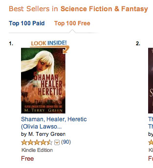 Number 1 at Amazon in Science & Fantasy